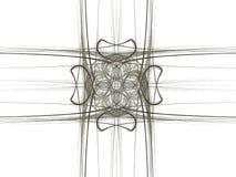 het 3D teruggeven met abstract fractal grijs patroon Stock Afbeeldingen