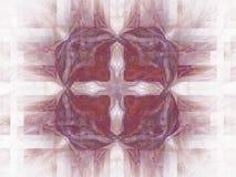 het 3D teruggeven met abstract fractal kastanjebruin patroon Royalty-vrije Stock Foto's