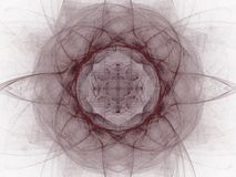 het 3d teruggeven met abstract fractal van Bourgondië patroon Stock Foto