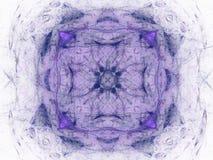 het 3D teruggeven met blauw abstract fractal patroon Royalty-vrije Stock Afbeelding