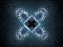 het 3D teruggeven met blauw abstract fractal patroon Royalty-vrije Stock Afbeeldingen