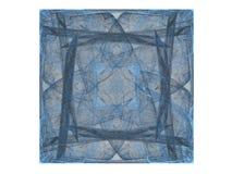 het 3D teruggeven met blauw abstract fractal patroon Stock Foto
