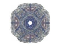 het 3D teruggeven met blauw abstract fractal patroon Royalty-vrije Stock Fotografie