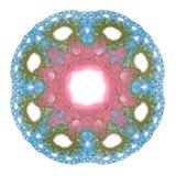 het 3D teruggeven met blauw abstract fractal patroon Royalty-vrije Stock Foto's