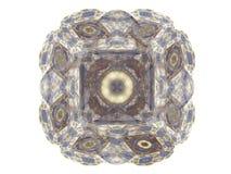 het 3D teruggeven met blauw abstract fractal patroon Stock Fotografie