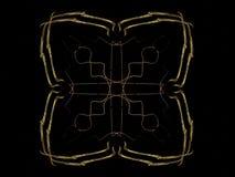 het 3D teruggeven met geel abstract fractal patroon Royalty-vrije Stock Afbeelding