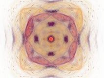 het 3D teruggeven met geel abstract fractal patroon Royalty-vrije Stock Afbeeldingen