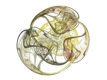 het 3D teruggeven met geel abstract fractal patroon Stock Foto's