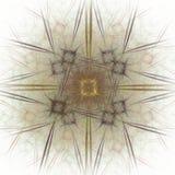 het 3D teruggeven met geel abstract fractal patroon Stock Fotografie