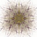 het 3D teruggeven met geel abstract fractal patroon Stock Afbeeldingen