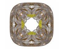 het 3d teruggeven met grijs abstract fractal patroon Stock Fotografie
