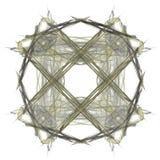 het 3d teruggeven met grijs abstract fractal patroon Royalty-vrije Stock Afbeeldingen