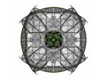 het 3d teruggeven met grijs abstract fractal patroon Stock Foto's