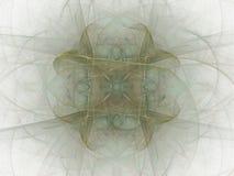 het 3d teruggeven met groen abstract fractal patroon Royalty-vrije Stock Fotografie