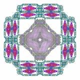 het 3d teruggeven met groen abstract fractal patroon Stock Foto's