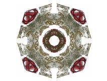het 3d teruggeven met groen abstract fractal patroon Royalty-vrije Stock Foto's