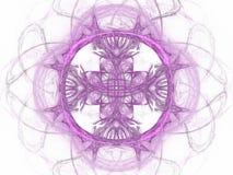 het 3D teruggeven met lilac abstract fractal patroon Stock Afbeelding