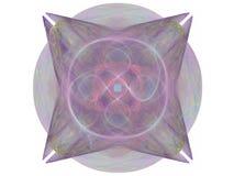 het 3d teruggeven met purper abstract fractal patroon Royalty-vrije Stock Fotografie