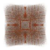 het 3D teruggeven met rood abstract fractal patroon Stock Foto's