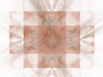 het 3d teruggeven met roze abstract fractal patroon Stock Fotografie
