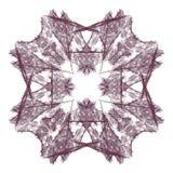 het 3D teruggeven met wijn abstract fractal patroon Stock Afbeeldingen