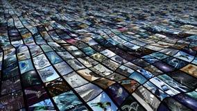 het 3d teruggeven Onregelmatige videomuur Royalty-vrije Stock Afbeeldingen