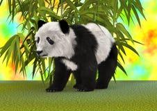 het 3D Teruggeven Panda Bear Royalty-vrije Stock Afbeelding