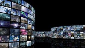 het 3d teruggeven Uitrollende bioskoop videomuur royalty-vrije illustratie