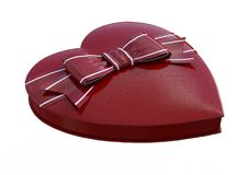 het 3D Teruggeven Valentine Chocolate Box op Wit Royalty-vrije Stock Foto