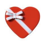 het 3D Teruggeven Valentine Chocolate Box op Wit Royalty-vrije Stock Afbeelding
