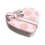 het 3D Teruggeven Valentine Chocolate Box op Wit Stock Fotografie