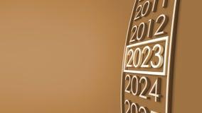 het 3d teruggeven van 2023 stock illustratie