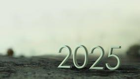 het 3d teruggeven van 2025 vector illustratie