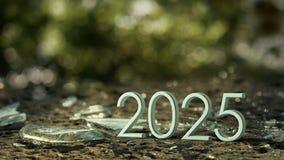 het 3d teruggeven van 2025 royalty-vrije illustratie