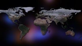 het 3d teruggeven van aarde U kunt continenten, steden zien Elementen van dit die beeld door NASA wordt geleverd Royalty-vrije Stock Afbeelding