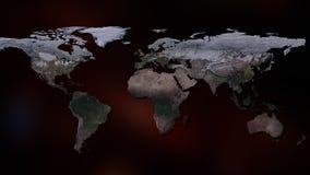 het 3d teruggeven van aarde U kunt continenten, steden zien Elementen van dit die beeld door NASA wordt geleverd Stock Fotografie