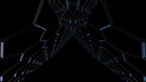 het 3d teruggeven van Abstracte blauwe achtergrond stock videobeelden