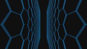 het 3d teruggeven van Abstracte blauwe achtergrond stock video