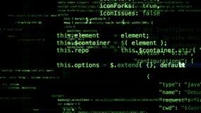 het 3D teruggeven van abstracte die blokken van code in de virtuele ruimte worden gevestigd Royalty-vrije Stock Afbeelding