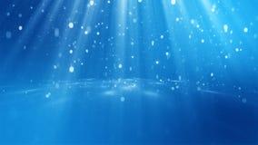 het 3D teruggeven van abstracte glanzende blauwe achtergrond Royalty-vrije Stock Afbeelding