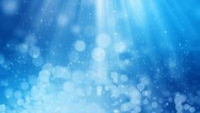 het 3D teruggeven van abstracte glanzende blauwe achtergrond Stock Fotografie