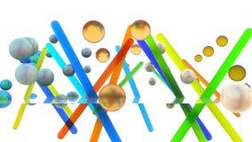 het 3d teruggeven van abstracte primetives Stock Afbeeldingen