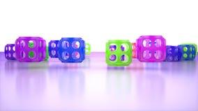 het 3d teruggeven van abstracte primetives Stock Foto's