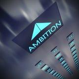 het 3D teruggeven van Ambitielift vector illustratie