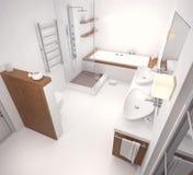 het 3D teruggeven van badkamers Royalty-vrije Stock Afbeeldingen
