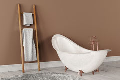 het 3D teruggeven van badkamers Stock Foto's