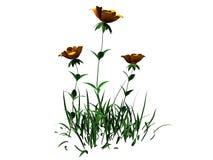 het 3d teruggeven van bloemstruik op wit wordt geïsoleerd kan voor FO worden gebruikt dat Royalty-vrije Stock Fotografie