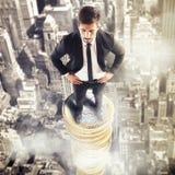 het 3D Teruggeven van bovenkant van economie Stock Foto's