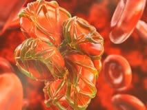 Het 3D teruggeven van close-upthrombose- royalty-vrije illustratie