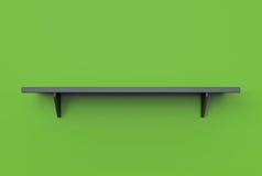 het 3d teruggeven van de koele moderne plank van de tegenhanger zwarte kleur op green Stock Foto